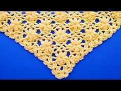 Tutorial / Cómo tejer chal triangular punto jazmín | Todo crochet