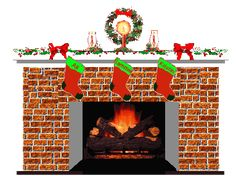 images of animated fireplaces | Fireplaces at Christmas Animated Gifs