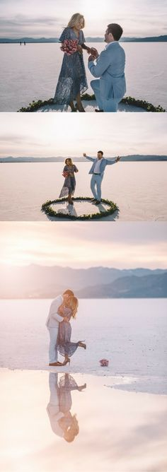 This marriage proposal at the salt flats is absolutely breathtaking!