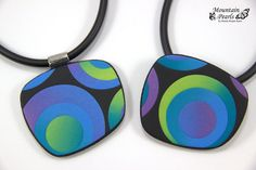 Polymer clay pendants by Mountain Pearls