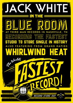 RECORD STORE DAY AT THIRD MAN RECORDS - On April 19, Jack White will attempt to set a world record for recording the fastest studio to store single in history