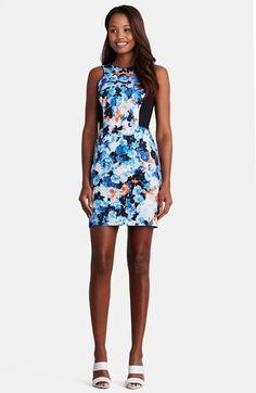 Donna Morgan 'Sun Kiss' Floral Print Poplin Dress available at #Nordstrom