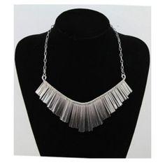 Gold Euro Style Mashup Tassel Fanshaped Short Necklace@SP45924 ($7.52) ❤ liked on Polyvore
