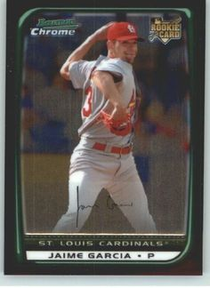 2008 Bowman Chrome Draft #BDP17 Jaime Garcia St. Louis Cardinals RC Rookie Card Baseball Card by Bowman Chrome. $0.99. Quickly and securely shipped in a soft sleeve, toploader and bubble envelope.