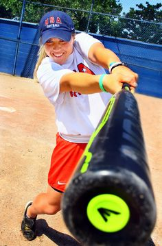 Amanda Chidester, Team USA Softball star. #FamousFootwear #shoes. I like the angle for a senior picture...