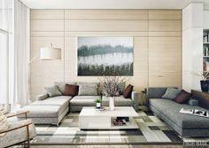 Гостиная в стиле контемпорари: 5 особенностей