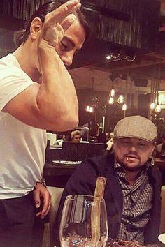 Leonardo DiCaprio Ate Dinner at Salt Bae's Restaurant and Oh My God Leonardo Dicarpio, Funny Pick, Imaginary Boyfriend, Fine Men, Film Industry, Brad Pitt, Best Actor, American Actors, Celebrity Gossip