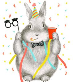 New Year's Bunny Card