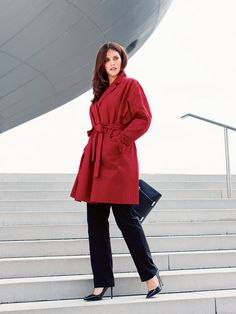 Coat with Slash Pockets 12/2013 Burda 131 Winter 2015 Insert