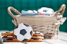 Mi Kitchenaid y yo: Galletas glasa balón de futbol