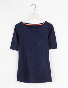 Long Lightweight Boat Neck WO072 3/4 Sleeved Tops at Boden