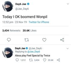 Jae is really a whole different breed Funny Kpop Memes, Kid Memes, Day6 Jae Twitter, K Pop, Haha, Steven Universe, Jae Day6, Young K, Kpop Groups