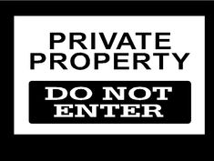 Private+Property+Do+Not+Enter+Metal+Sign+Aluminum+Security+12in+x+18in+#WildsideAutoDecals
