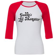 Daddy's Lil Monster Ladies t-shirt Little Harley Quinn Costume suicide squad top in Clothes, Shoes & Accessories, Men's Clothing, T-Shirts | eBay