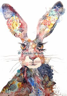 Persnickety Hare A3 Giclee Print by inspirestudiogallery on Etsy