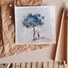 """""""Тест-драйв новых кистей из шерсти  козы  #otido_4u_illustration"""""""