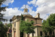 The Royal Chapel of St Anthony of La Florida in Madrid. Built in 1792, it is best known for its ceiling and dome frescoes by Francisco de Goya.It is also his burial place,