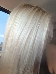 Love my light blonde hair!