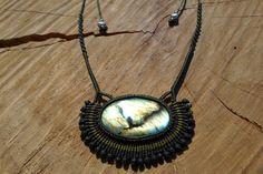 labradorite necklace,macrame labradorite,macrame pendant,cabochon necklace,labradorite jewelry,gemstone necklace,gift for her,boho-chic by ARTEAMANOetsy on Etsy