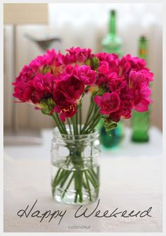 Happy Weekend - send yourself flowers Bon Weekend, Hello Weekend, Friday Weekend, Happy Week End, Happy Saturday, Happy Day, Saturday Morning, Good Morning Wishes, Good Morning Images