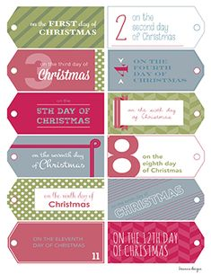 Printable-12_Days_Of_Christmas_VINTAGE_MAROON