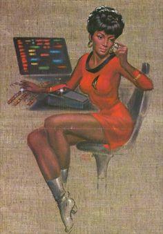 """Uhura"" by Frank Kelly Freas"