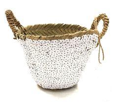 Basket Moroccan White