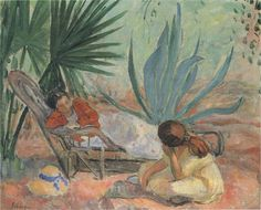 'The Garden', Oil On Canvas by Henri Lebasque (1865-1937, France)