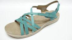 Easy Spirit womens 79934852 SAVASANA turquiose leather strappy sandals  9.5 NEW #EasySpirit #comfortstrappy #casual