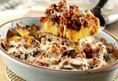 Don& overlook the wonderful change of pace that polenta makes from pasta or rice. This dish is sure to become a frequently requested one. Cereal Recipes, Pork Recipes, Balsamic Chicken, Balsamic Vinegar, Prego Sauce Recipe, Best Meatballs, Chicken Flavors, Roasted Garlic