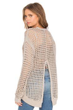 BLANKNYC V Back Sweater in Askhole   REVOLVE