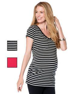 Destination Maternity BumpStart Short Sleeve V-neck 2-pack Maternity T Shirt