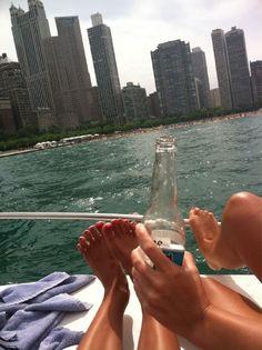 Summertime Chi on Lake Michigan