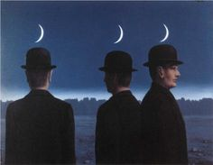 The Mysteries of the Horizon (1955) - Rene Magritte. Oil on Canvas. Location: Private collection, New York, USA.