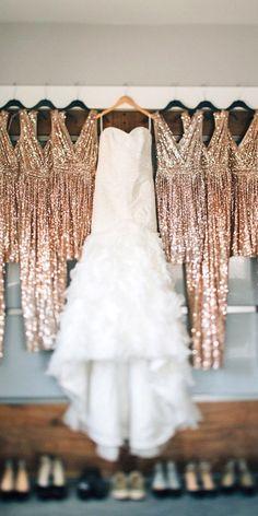 Pre-Wedding Shots: Hanging Wedding Dress ❤ See more: http://www.weddingforward.com/hanging-wedding-dress/ #wedding #photos #dresses