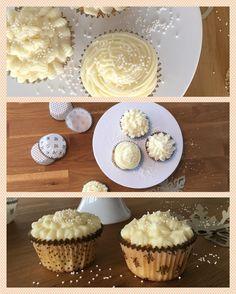 Leckere Kokosnuss Cupcakes mit Frischkäse-Frosting. Jetzt auf knusperknusper.com!