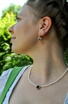 Earrings, Jewelry, Fashion, Freshwater Pearl Necklaces, Pearl Jewelry, Neck Chain, Handmade, Silver, Ear Rings