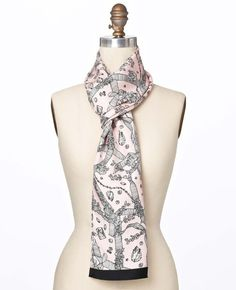Ann Taylor Jewels Print Oblong Silk Scarf - love it and  bought it!