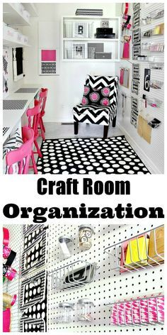 Craft Room Organization...fun and fabulous organizing diy's and suggestions!  Come on over and get organized with pizzaz!!! thistlewoodfarms.com