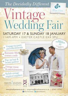 Vintage Wedding Fair, Exeter Castle, January 17th & 18th 2015