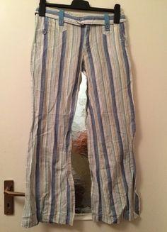 Kaufe meinen Artikel bei #Kleiderkreisel http://www.kleiderkreisel.de/damenmode/haremshosen/114091392-stoffhose-hippiehose-gr-38-s-blau-weiss-gestreift-streifen-hippie-goa-hipster-boho