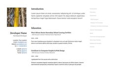 Gridus  Vcard  Cv Resume  Portfolio  Projets  Essayer