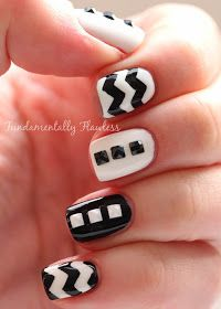 Fundamentally Flawless: Born Pretty Store Mini Black and White Nail Art Studs Review