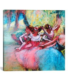 This Degas Four Ballerinas on The Stage Replica Wrapped Canvas is perfect! #zulilyfinds