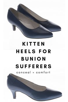 ac6e3e0d2408 Kitten heels for bunion sufferers! The Ava is produced using the finest  goats leather