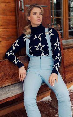 Racing pants, £396; Starligh sweater, £295, both Perfect Moment