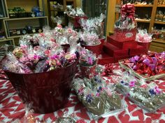All decked out for the season of Love... www.dunmorecandykitchen.com