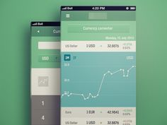 This is an unrelated app, but I think the color palette used would be appropriate for a sustainable/green mobile app.