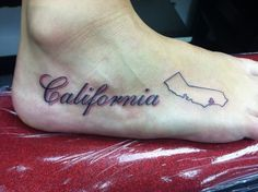 California tattoo. Absolutely love this!