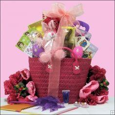 Sugar free easter gift basket gift basket ideas pinterest cute easter gift basket for a girl ages 6 9 37 negle Images